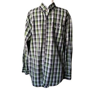 Carhartt plaid button front shirt size L